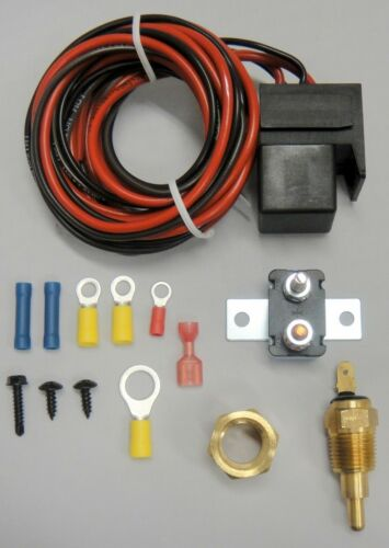 NEW /> Electric Fan Wire Harness Kit Complete Thermostat 60 Ampy Rela 185° Wiring