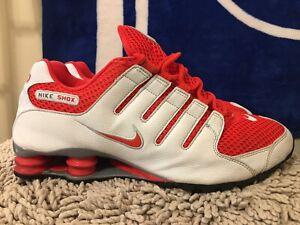 Nike Shox NZ, 378341-106, White / Lt Crimson, Mens Running ...