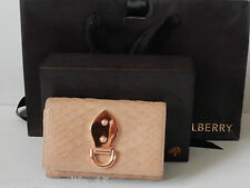 MULBERRY BROWN LEATHER FRENCH PURSE GOLD TONE HARDWARE - INCLUDED BOX & BAG
