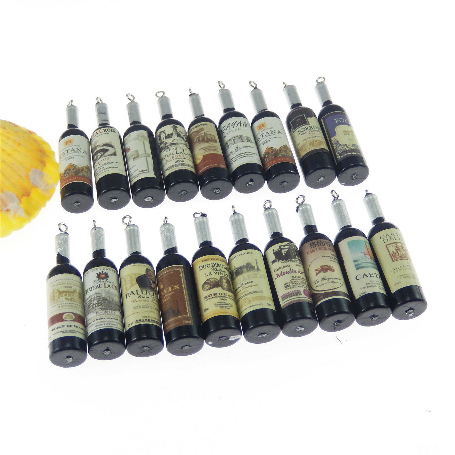 Beads Jewellelry Making Supplies 51706 Black Silver Color Resin Red Wine Bottle Necklace Pendant Jewelry 20pcs Restaurantecarlini Com Br