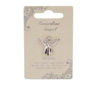 Mummy-Guardian-Angel-Silver-Coloured-Angel-Pin-With-Gem-Stone-Sentimental-Gift-I