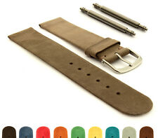 Suede Genuine Leather Watch Strap Band SS. Buckle 12 14 16 18 20 22 Malaga MM
