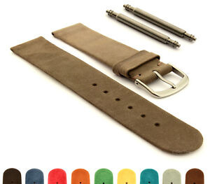 Suede-Genuine-Leather-Watch-Strap-Band-Malaga-12mm-14mm-16mm-18mm-20mm-22mm