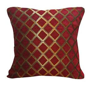 Image Is Loading Wd33ba Gold On Red Damask Chenille Check Throw