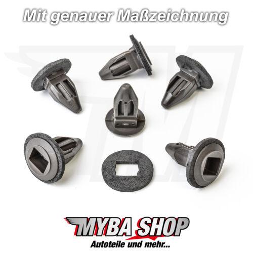 15x SPREIZMUTTER clips avec joint pour Opel Astra Corsa Zafira Calibra 1406984