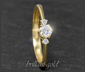 Brillant-Solitaer-Damen-585-Gold-Ring-0-29ct-River-D-amp-Lupenrein-Verlobungsring