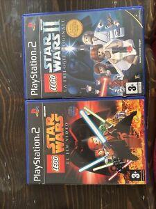 Jeu Ps2 Lot Star Wars Le Jeu Video Et Star Wars 2 La Trilogie Originale