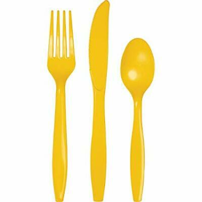 School Bus Yellow Creative Converting Touch of Color Premium 50 Count Plastic Forks