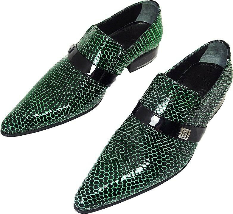 100% Chelsy - - - Italienischer Designer Party Slipper Netzmuster schwarz grün 43 c5d6d6
