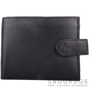 Mens-Gents-Leather-RFID-Protected-Bi-Fold-Coin-Money-Holder-Wallet