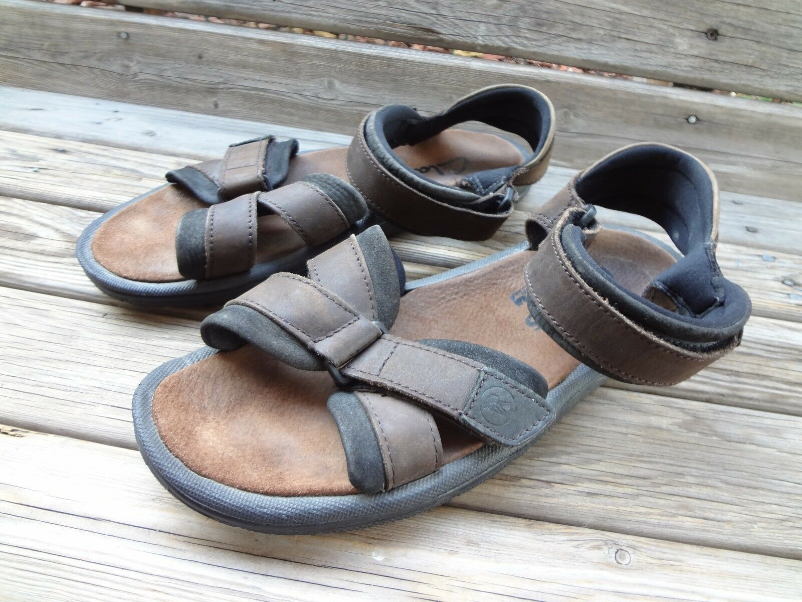 CLARKS ACTIVE AIR BROWN LEATHER  SANDALS SHOES MENS SIZE 13 M-W   Adjust