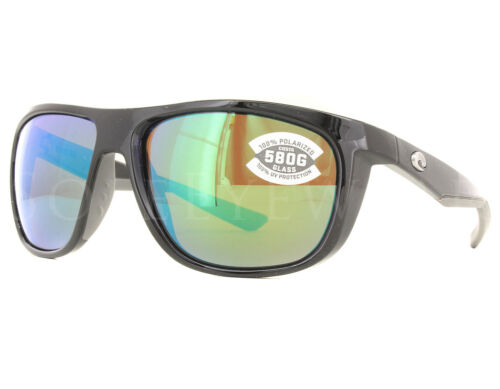 NEW Costa Del Mar Kiwa Shiny Black Green Mirror KWA11-OGMGLP580G Sunglasses