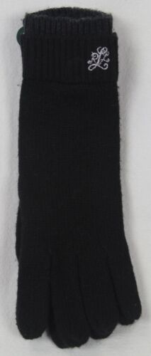 RALPH LAUREN BLACK WOOL ALPACA TOUCH GLOVES NWT