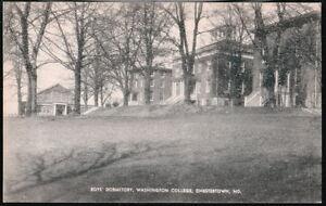 CHESTERTOWN-MD-Washington-College-Boy-Dorm-Dormitory-Vtg-B-amp-W-Postcard-Old-PC