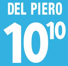 Italy Del Piero Nameset 2000 Shirt Soccer Number Letter Heat Print Football Home