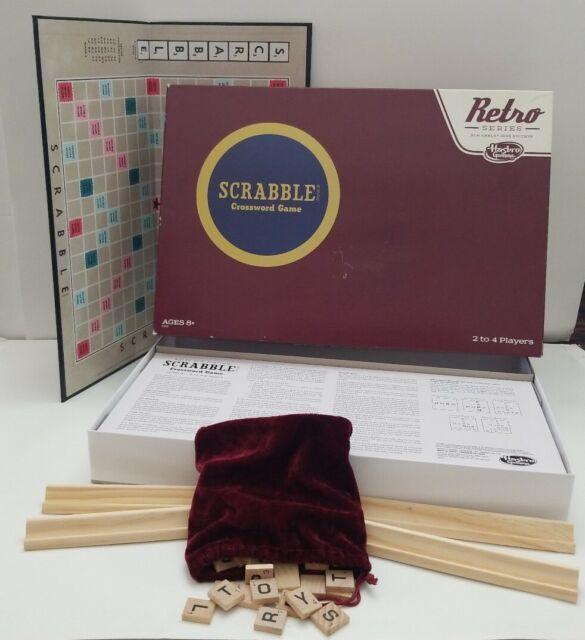 Scrabble Retro Edition Series Complete Board Game Family game Hasbro Parker Bros