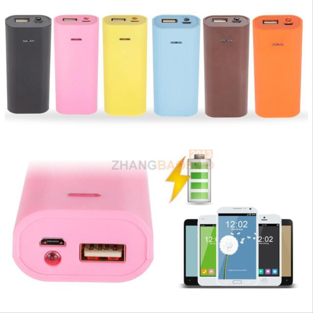 Portable Empty Box DIY Kit 18650 External Battery Charger Power Bank Case Cover