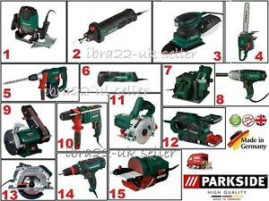PARKSID Electric Corded Impact Hammer, Angle Grinder  Drill, Multi Tools -Choose