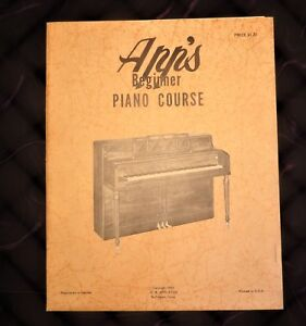 Beginner Piano Course Lesson Book from Vintage App's Music House OW Appleton!