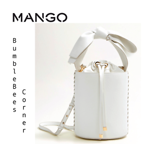 Tote Cylinder Bucket Handle White Bow Drum Mango Bag Ltd Ed Shoulder ID2YWHE9