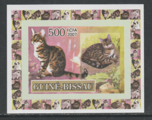 Guinea -BISSAU 5742 - 2007 DOMESTIC CATS #1 imperf deluxe sheet unmounted mint
