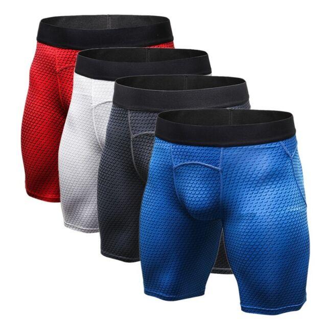 Mens Compression Shorts Sports Running Cycling Gym Pants Base Layers Skin Pant