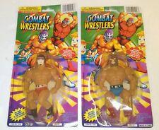 Combat Wrestlers Action Figure Lot MIP KO Wrestling MOTU Luchador Sports 90s