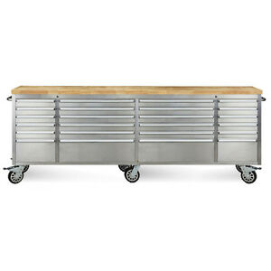Image Is Loading 96 034 Stainless Steel 24 Drawer Work Bench