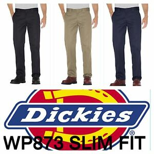 9bbaf6061f8 DICKIES MEN S WP873 SLIM FIT STRAIGHT LEG WORK PANTS  NEW