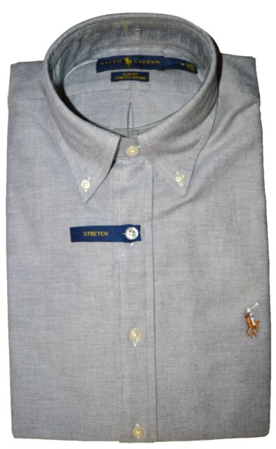 68be3acab6bb Polo by Ralph Lauren Mens Shirt in Slate Slim Fit ( Stretch ) Size Large    for sale online