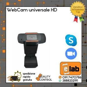 WEBCAM 720P UNIVERSALE CON MICROFONO VIDEOCAMERA HD USB PER PC SMART WORK SKYPE