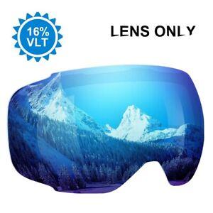 Enkeeo Snow Ski Goggle Anti-Fog Dual Lens 3 Layers UV400 Snowboarding LENS ONLY