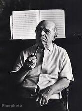 1966 Vintage 16x20 PABLO CASALS Cello Music Conductor Spain By PHILIPPE HALSMAN