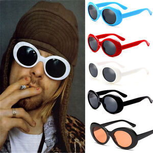 e2b9ccd3183 Image is loading Retro-Clout-Goggles-Unisex-Sunglasses-Rapper-Oval-Shades-