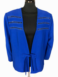 newest collection 677a4 68af6 Details about GAI MATTIOLO Jacket Caban Woman Viscose Acetate Woman Jacket  Blazer Sz. XL - 48