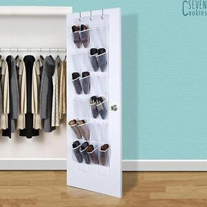 24-Pocket-Shoe-Holder-Organiser-Over-The-Door-Hanging-Shelf-Rack-Storage-Hook