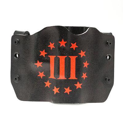 OWB Kydex Gun Holsters BLACKBEARD/'S FLAG Bersa 1911 Browning Beretta