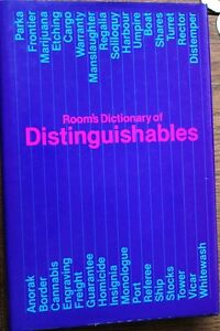 Room s Dictionary of Distinguishables, Adrian Room, Routledge & Kegan Paul - Neunkirchen-Seelscheid, Deutschland - Room s Dictionary of Distinguishables, Adrian Room, Routledge & Kegan Paul - Neunkirchen-Seelscheid, Deutschland