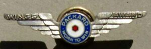 RARE PACKARD WWII SILVER CLOISONNE' WINGS PIN VERY NICE L@@K #H164