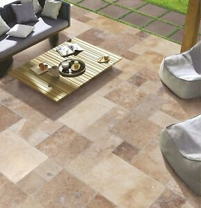 details about volcano antique pattern travertine tile brushed chiseled and partially filled