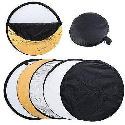"80cm 32"" 5-in-1 Light Disc Reflector For DSLR Camera Canon Nikon Sony Flash"