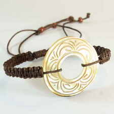 Muschel Armband Schwarz Shell Bracelett Maori Design B076