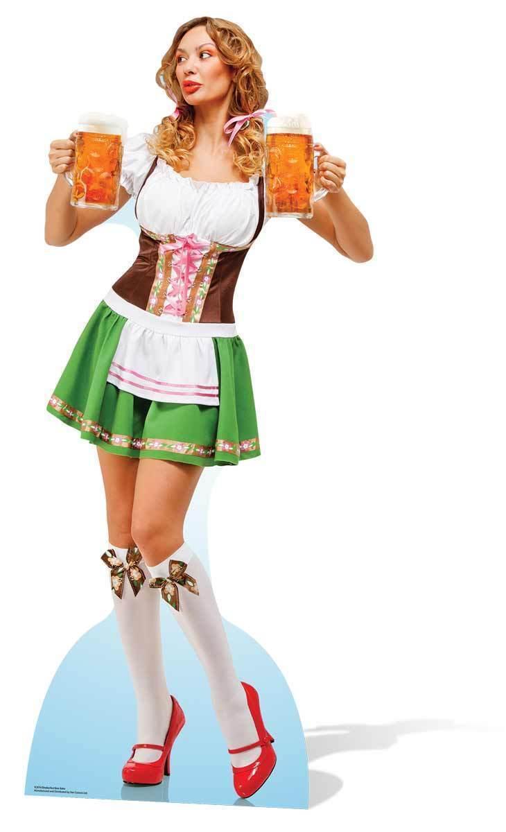 Oktoberfest Bière Festival Babe size Réelle en Carton Découpe   A Intégrer