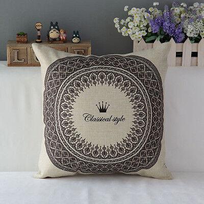 Boho Flower Cotton Square Pillow Case Throw Cushion Cover Home Sofa Car Decor