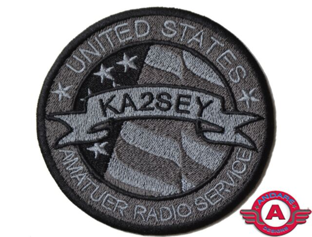 Personalized Amateur Radio Service Embroidered Tactical Patch - made in USA