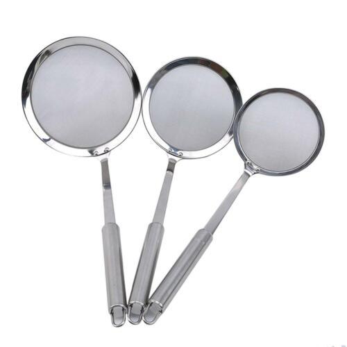 Filter Spoon Stainless Steel Fine Mesh Wire Oil Skimmer Strainer Fried Food Net 