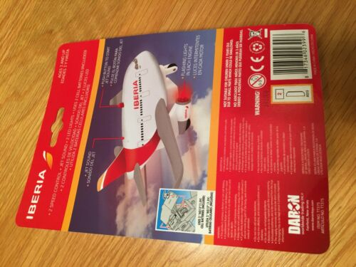IBERIA Airways Airlines Fun Toy Pull Back Plane Airplane Lights Jet Noise Toy