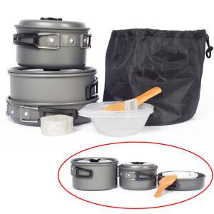 Topfset-Outdoor-Camping-Kochgeschirr-Kochset-Antihaft-Topf-Pfanne-Kochtopf-Pot