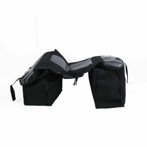 Motorcycle box Saddle Bag Black Canvas Waterproof Pannier Motorbike saddle bag