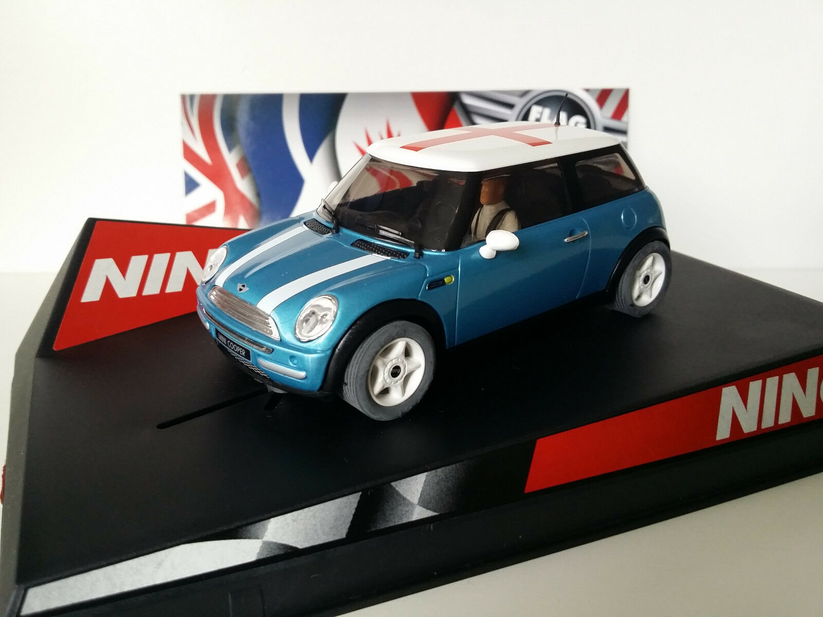 SCX Scalextric Slot Ninco 50311 Mini Cooper Electric bluee  England